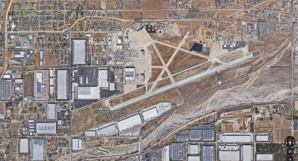 Aerial image of San Bernardino International Airport